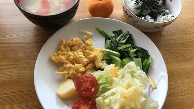 朝ごはん 栄養価