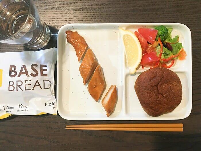 basebread ベースブレッドダイエット タンドリーチキンもりつけ