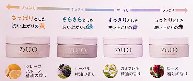 DUO4種類