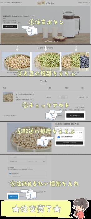 大豆注文方法